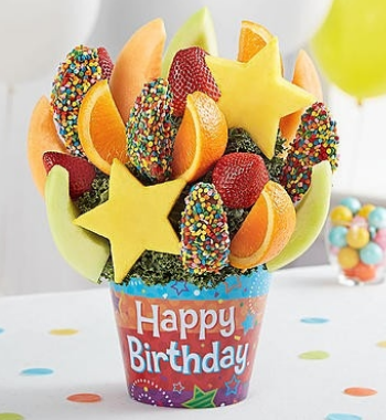 Celebrate the Day Fruit Arrangement With Chocolate