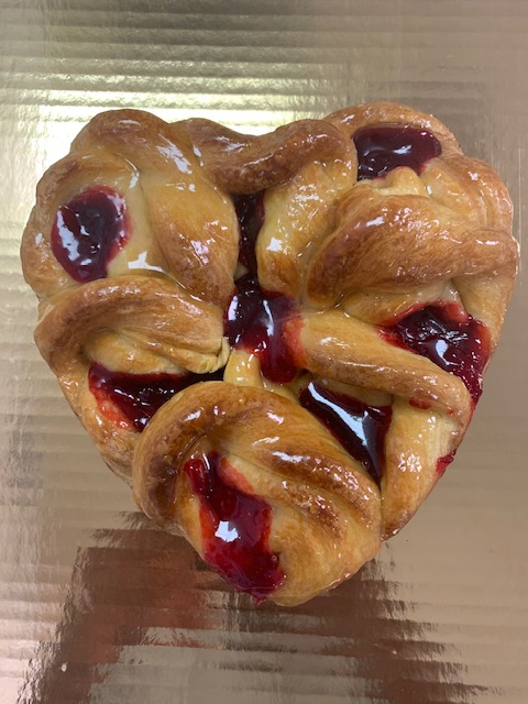 Breakfast Heart Danish